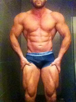Un-pumped and un-tanned post-Candito Training progress pic.
