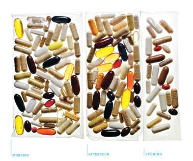 The Kurzweil Stack - 180-210 pills a day.