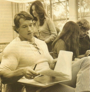 Arnold studied Business at university in between becoming a real estate millionaire, world champion and movie star.