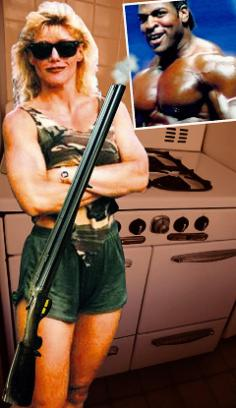 """Women's bodybuilding competitor """"shot-gun"""" Sally Mcneil shot her husband dead on Valentines Day because she suspected he was cheating on her. Her """"contest-prep"""" mode defense fell on deaf ears."""