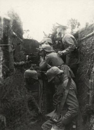 Early German trenches - 1914