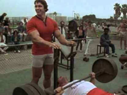 Arnold and Franco training