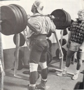 In a great scene in the book, Shaw goes head to head with the Barbarian brothers in a squat session
