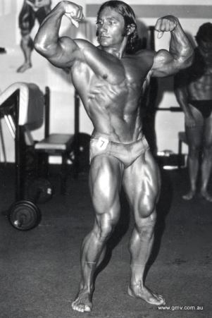 The classic 70's physique of Australian, Frank Colombera.