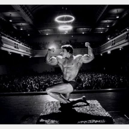 arnold posing stage