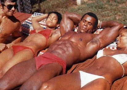 serge sunbathing